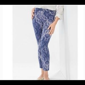 FLAWLESS CONTOUR PAISLEY SCROLL SKINNY ANKLE JEANS by NYDJ by Chico's